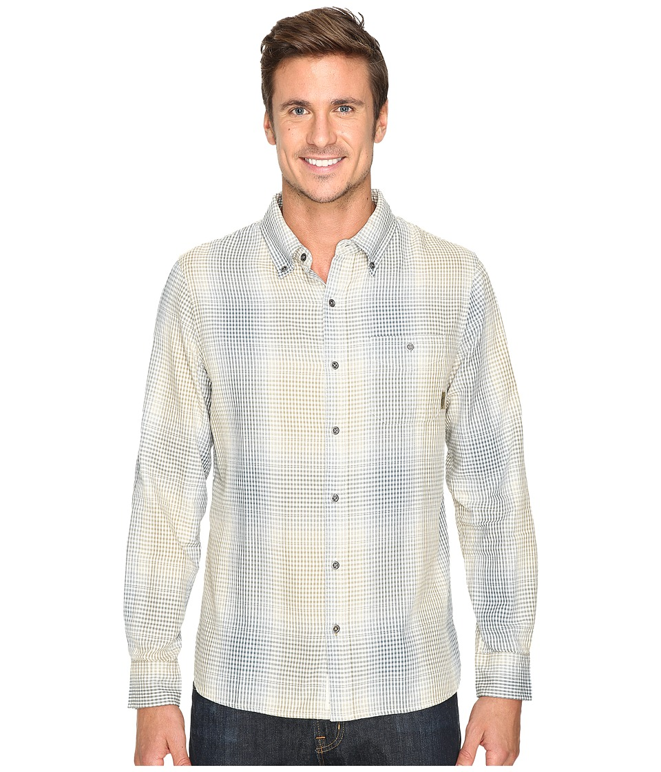 Merrell - Farvel Flannel Shirt (Eggshell) Men's Long Sleeve Button Up