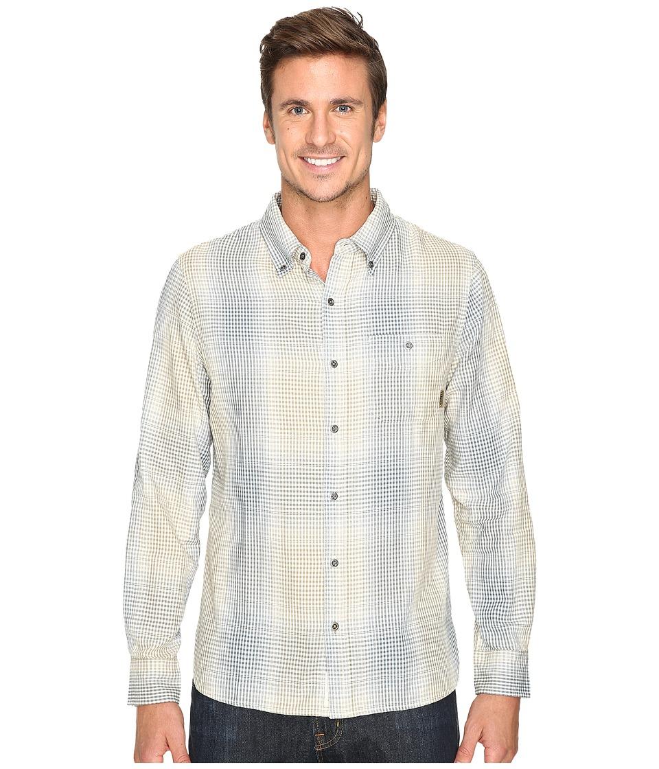 Merrell - Farvel Flannel Shirt (Eggshell) Men's Long Sleeve Button Up