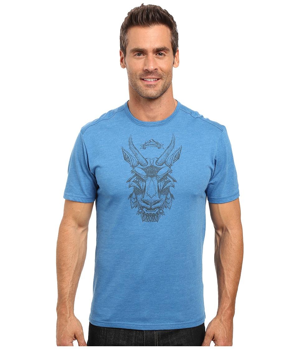 Merrell - Mystic Goat Tee (Snorkel Blue) Men's T Shirt