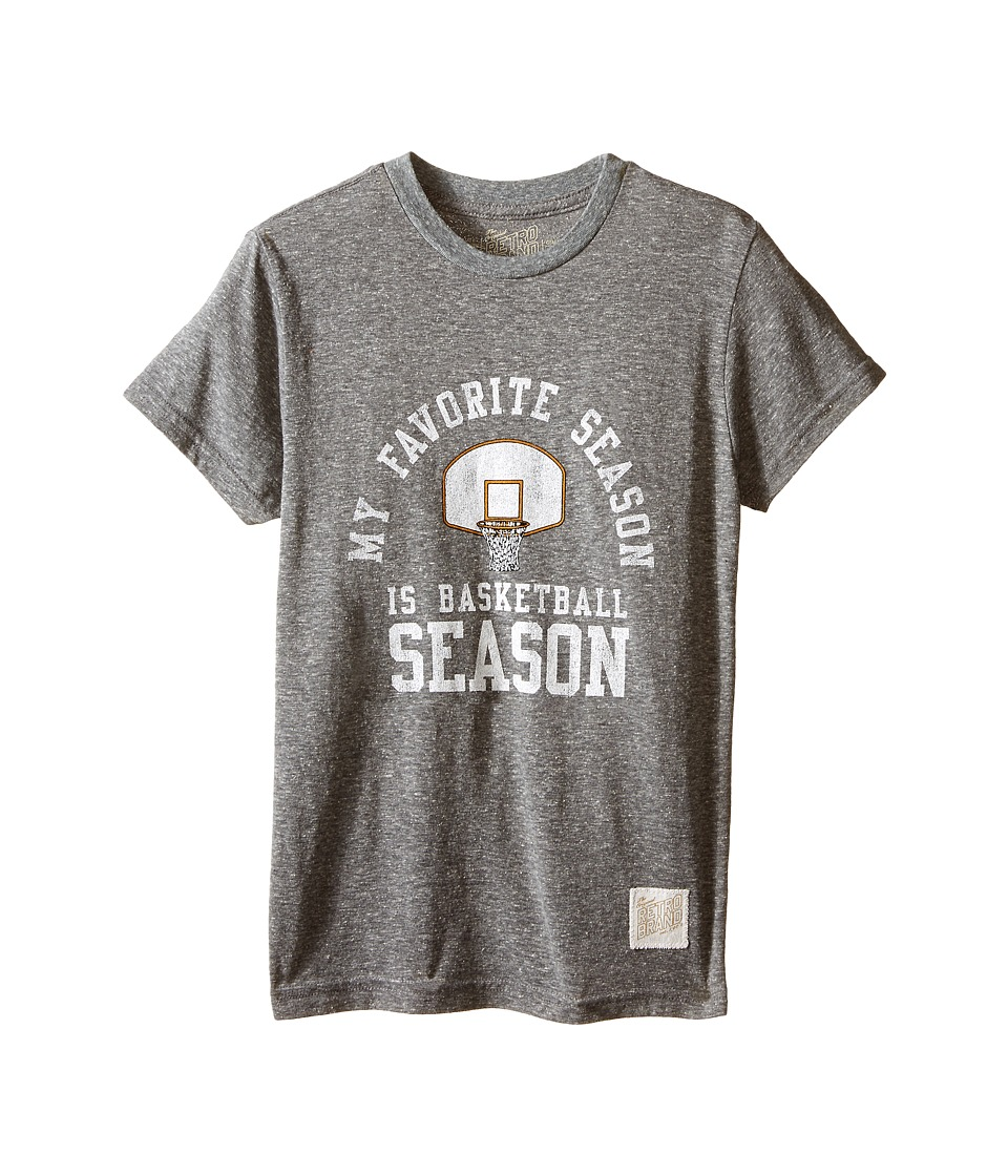 The Original Retro Brand Kids - Short Sleeve Tri-Blend Favorite Season Tee (Big Kids) (Streaky Grey) Boy