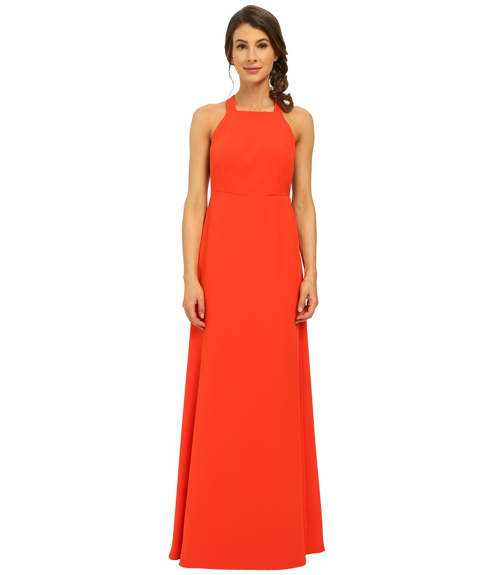 JILL JILL STUART - Sleeveless T-Back Fine Sponge Twill Gown (Tangerine) Women's Dress