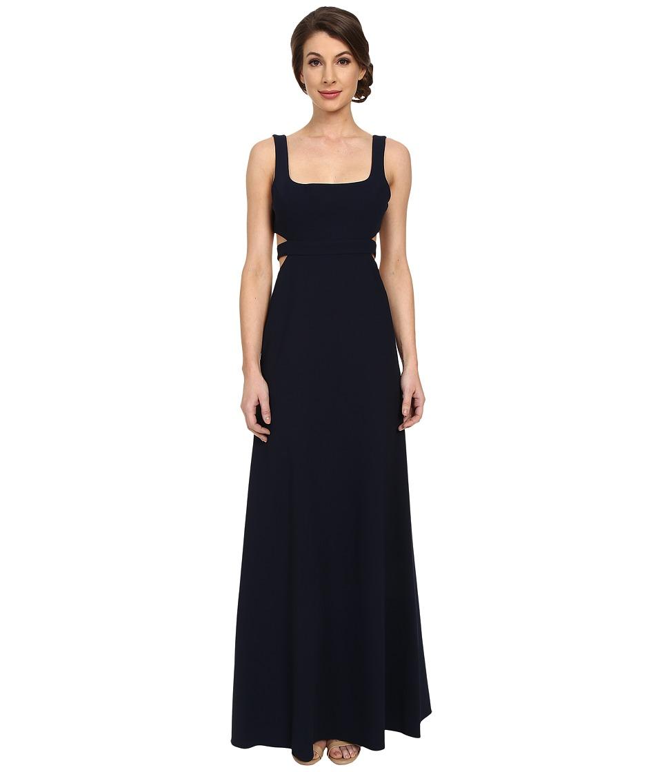 JILL JILL STUART Sleeveless Cut Out Elastane Gown (Navy) Women