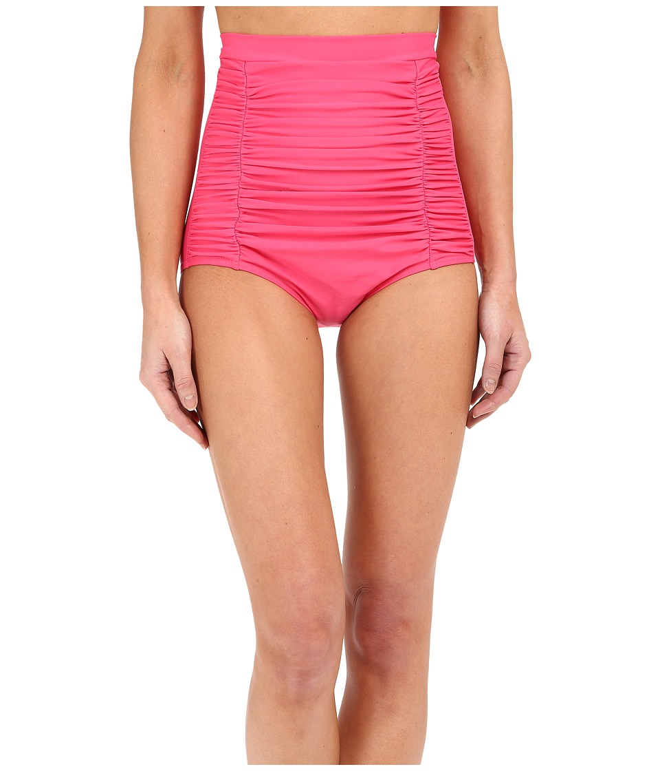 Unique Vintage - High Waisted Monroe Bikini Bottom (Hot Pink) Women's Swimwear