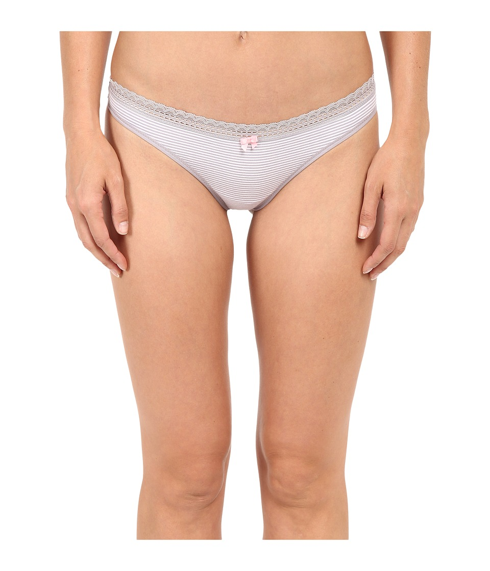 Betsey Johnson - Cotton Spandex Thong J2075 (Mini Stripe Magic Mushroom) Women's Underwear