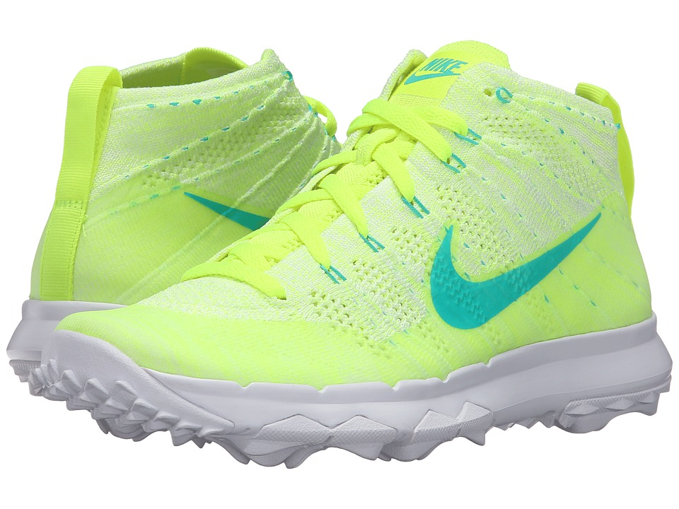 Nike Golf - FI Flyknit Chukka (Volt/Clear Jade/White/Liquid Lime) Women's Golf Shoes