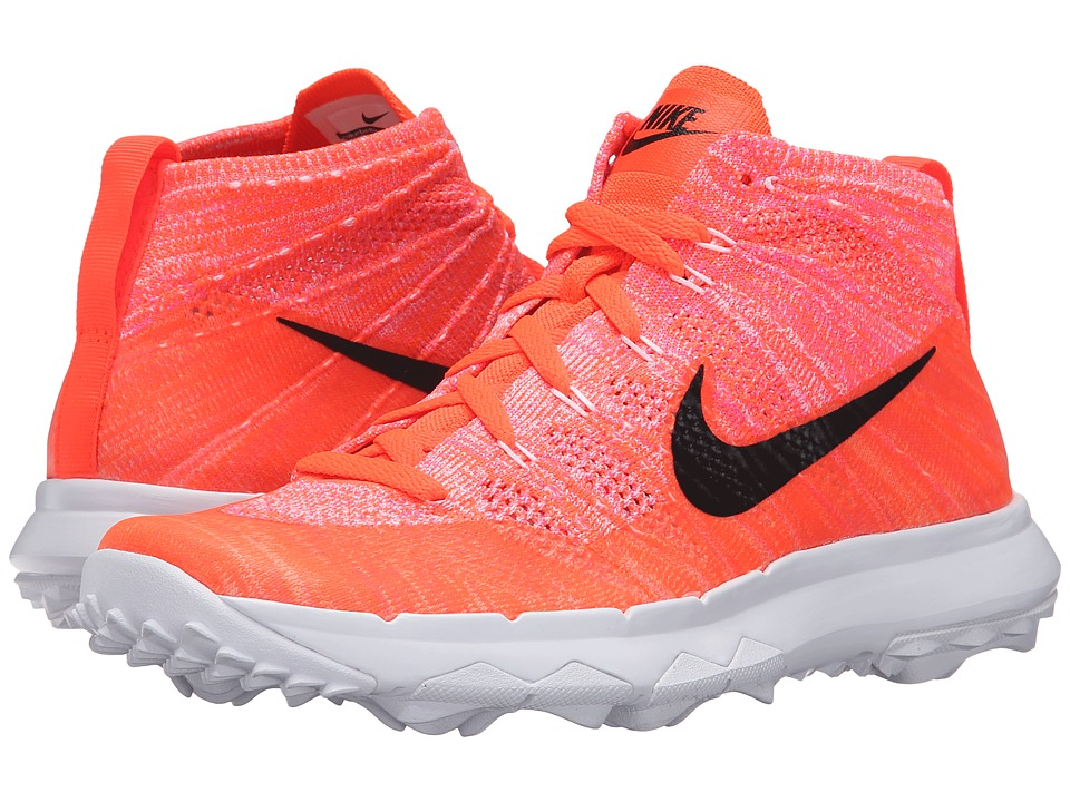 Nike Golf FI Flyknit Chukka (Total Crimson/Black/Pink Blast/White) Women