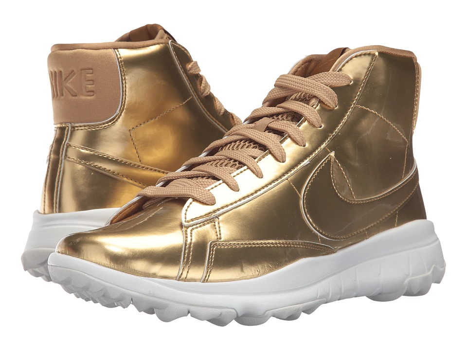Nike Golf - Blazer (Metallic Gold/Summit White/Metallic Gold) Women's Golf Shoes