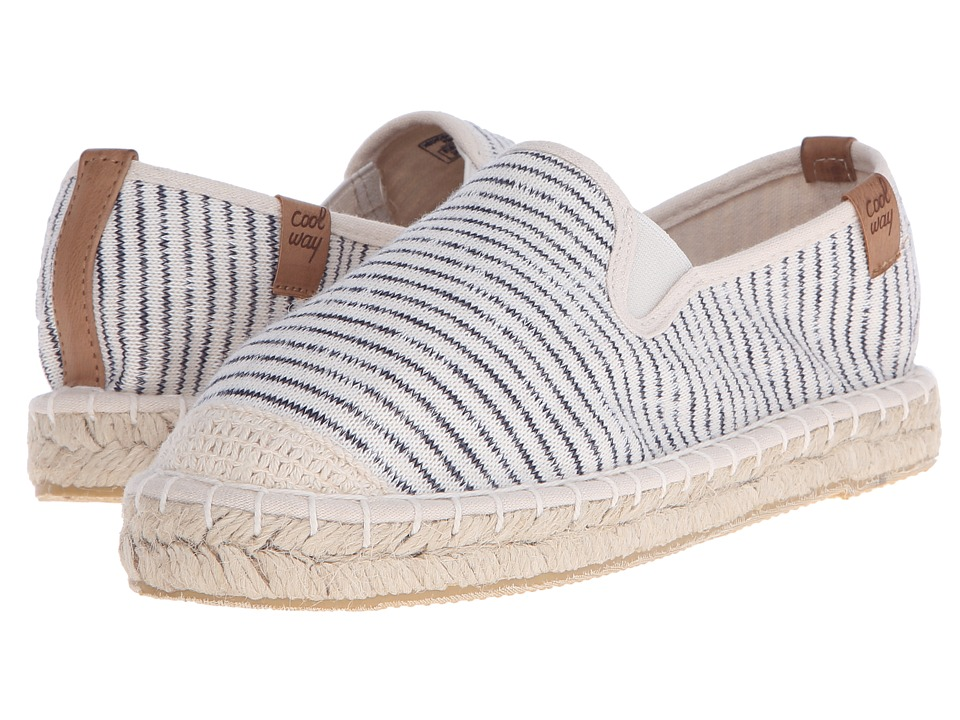 Coolway - Jitsu (Stripes) Women's Slip on Shoes