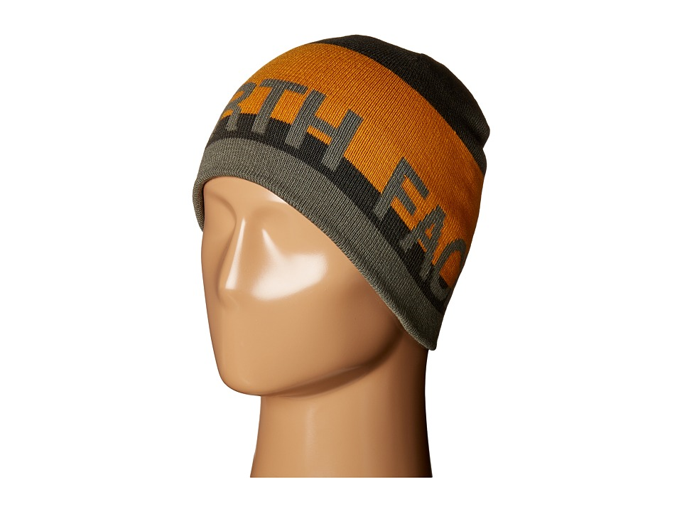 The North Face - Reversible TNF Banner Beanie (Asphalt Grey/Citrine Yellow) Beanies