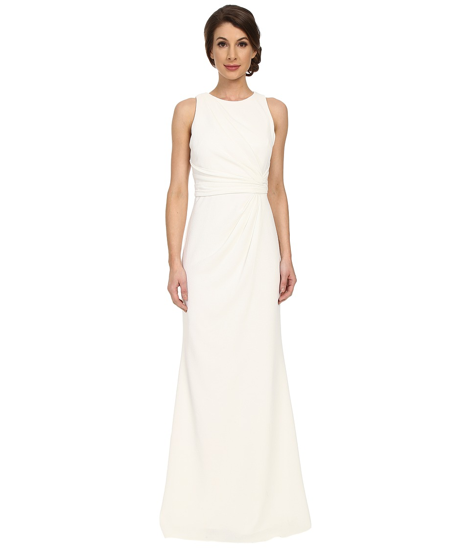 Badgley Mischka - Gathered Side Gown (Ivory) Women's Dress
