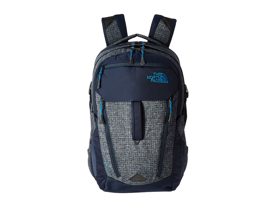 The North Face - Surge (Urban Navy Heather/Banff Blue) Backpack Bags