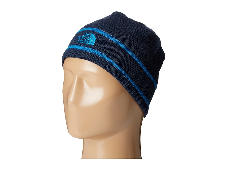 The North Face - Logo Beanie (Urban Navy/Shady Blue) Beanies