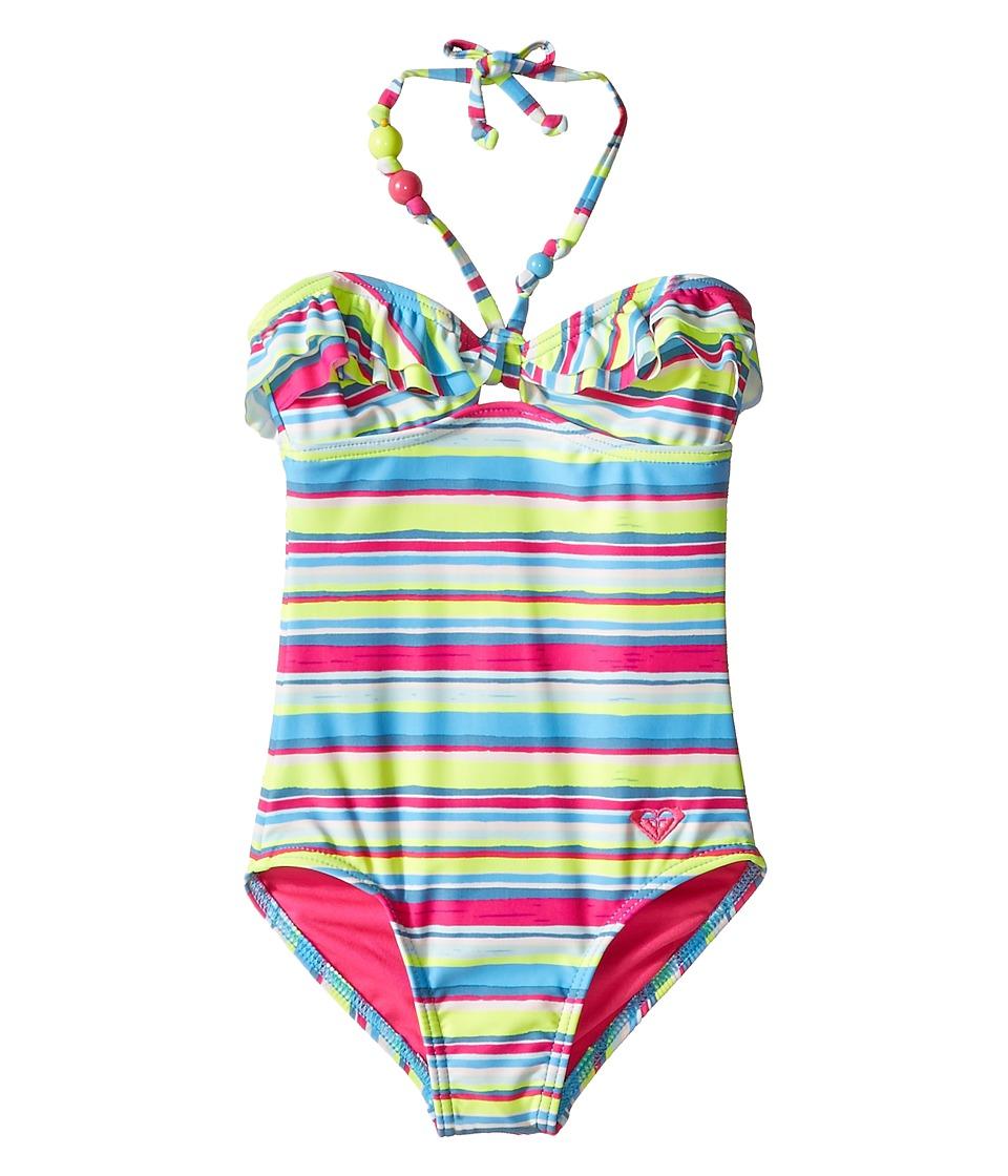 Roxy Kids - Island Tiles One-Piece (Big Kids) (Sunny Lime) Girl's Swimsuits One Piece