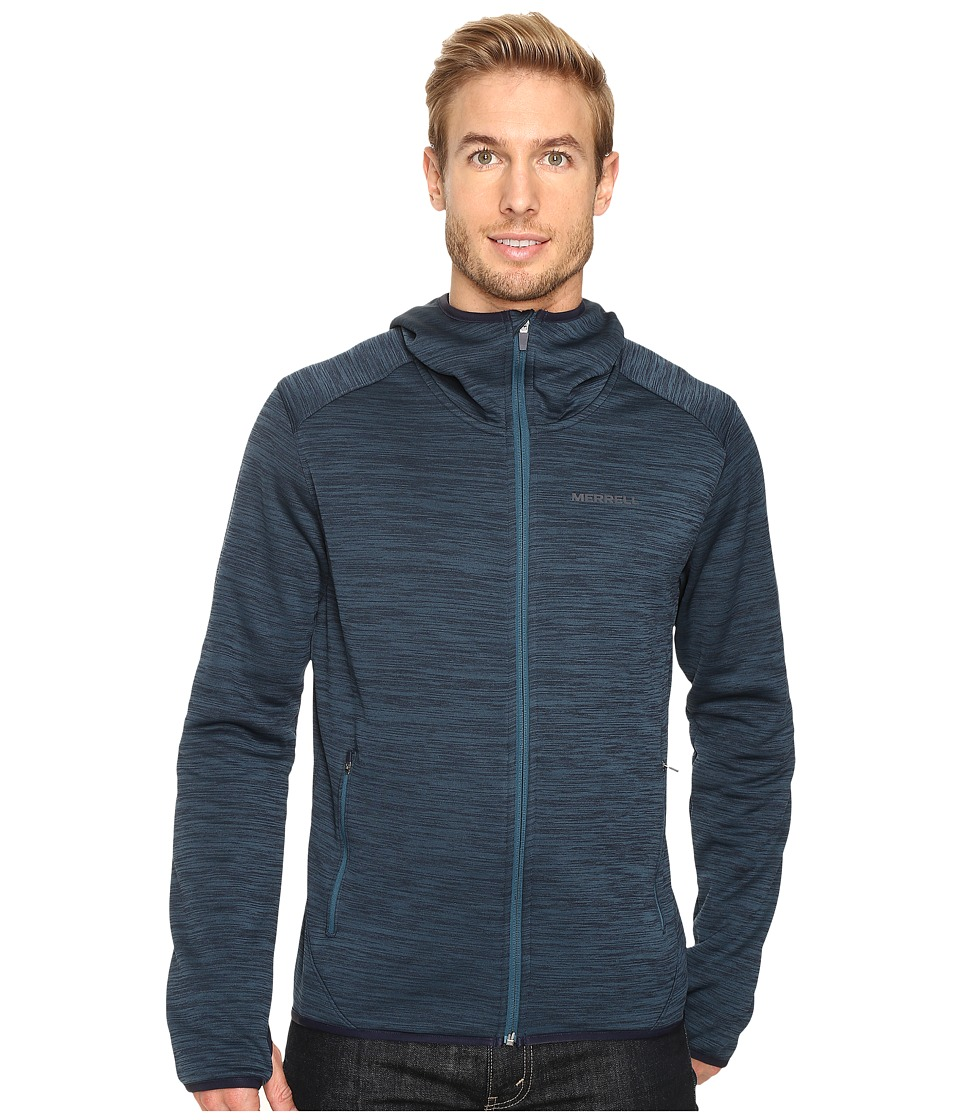 Merrell - Fraxion Hoodie (Blue Spruce Heather) Men's Long Sleeve Pullover