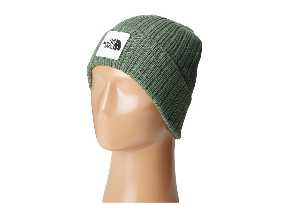 The North Face - Logo Boxed Cuffed Beanie (Duck Green) Beanies
