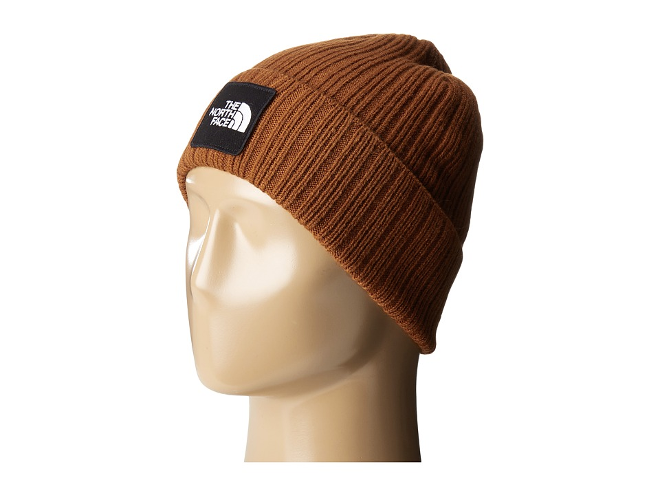 The North Face - Logo Boxed Cuffed Beanie (Gingerbread Brown) Beanies