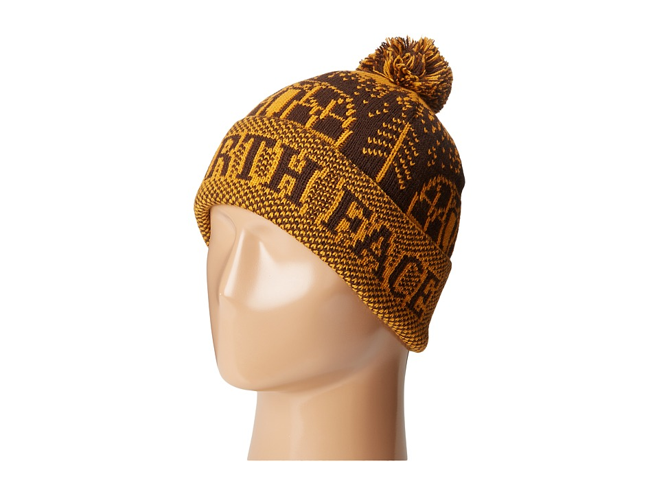The North Face - Fair Isle Pom Beanie (Coffee Bean Brown) Beanies