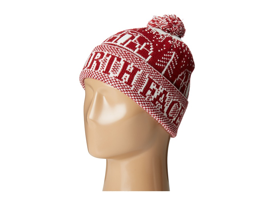 The North Face - Fair Isle Pom Beanie (Cardinal Red) Beanies