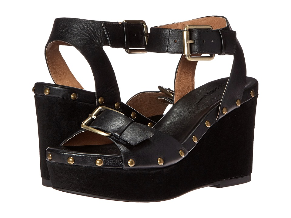 Corso Como - Deli (Black Leather/Suede) Women's Wedge Shoes
