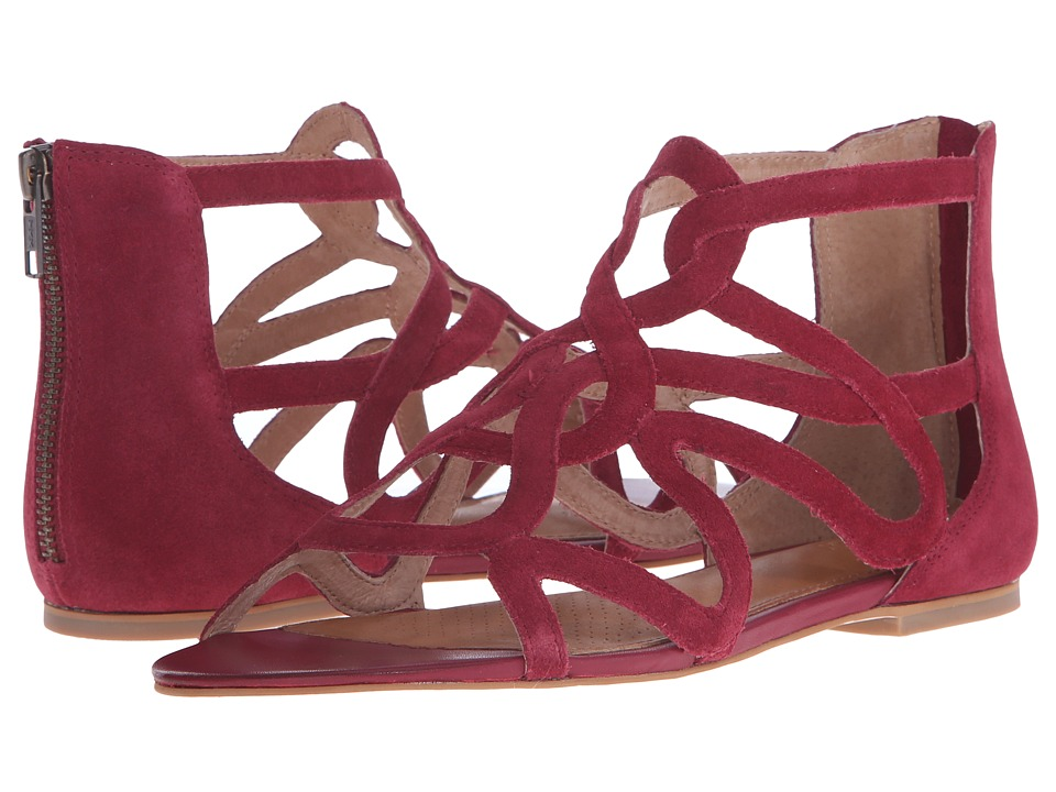 Corso Como - Surrey (Berry Red Suede) Women's Sandals