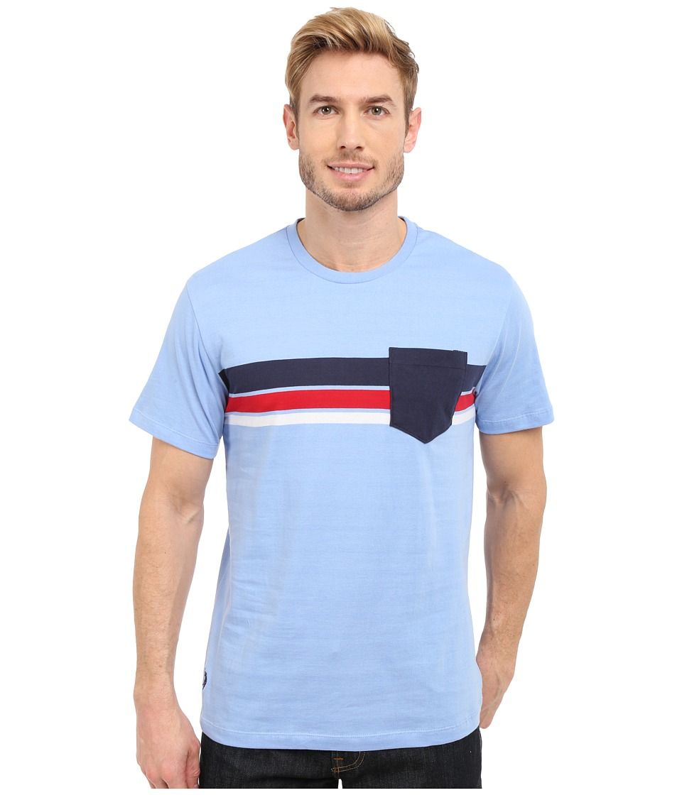 U.S. POLO ASSN. - Chest Stripe Crew Neck Pocket T-Shirt (Vista Blue) Men's Short Sleeve Pullover