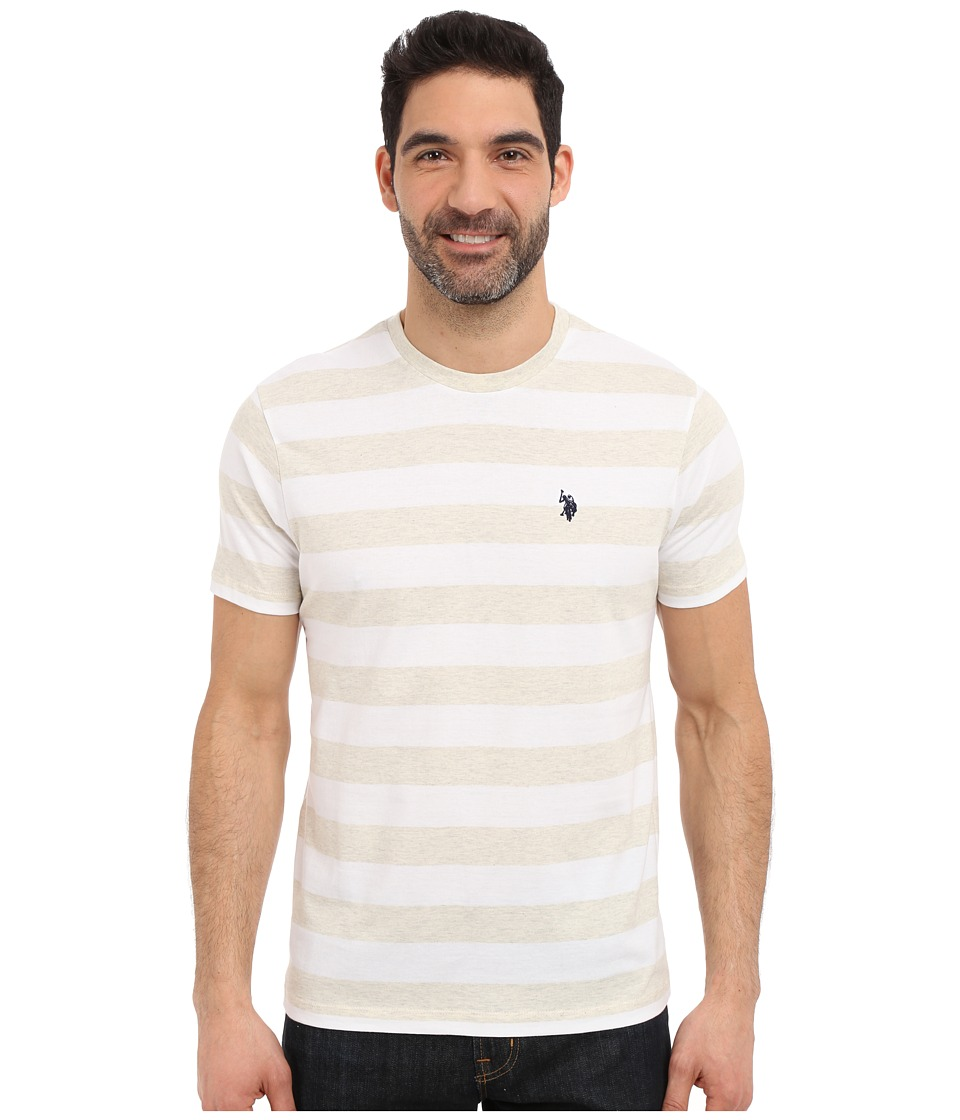 U.S. POLO ASSN. - Stripe Crew Neck T-Shirt (White) Men