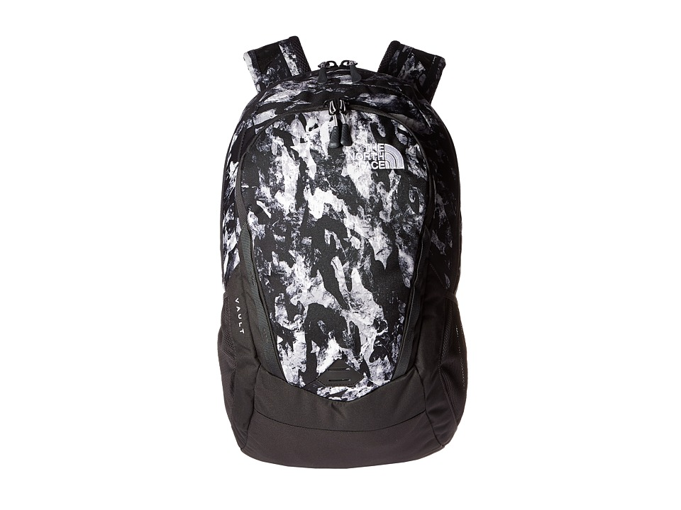 The North Face - Vault (Mountain Camo Print/Metallic Silver) Backpack Bags