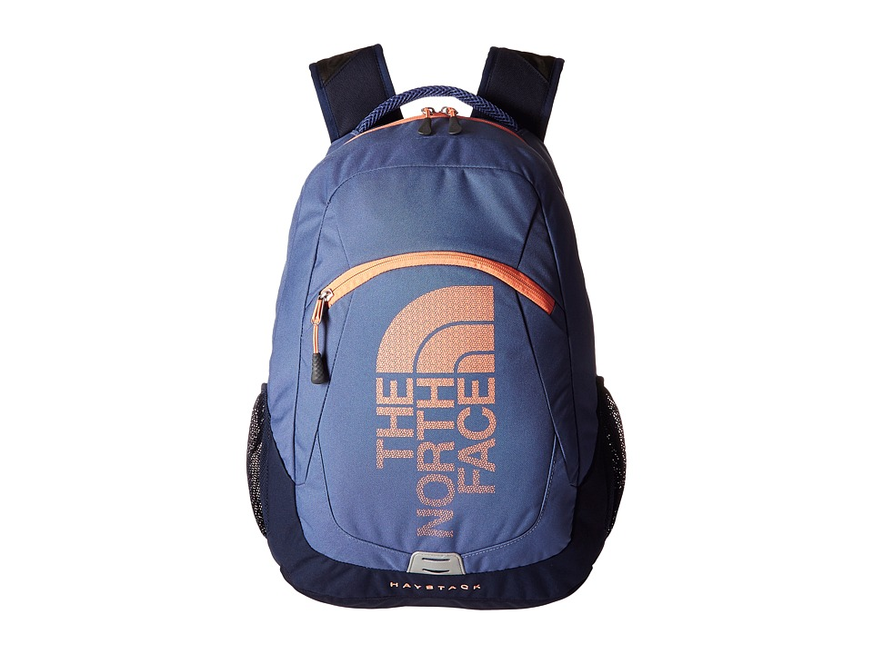 The North Face - Haystack (Coastal Fjord Blue/Feather Orange) Backpack Bags