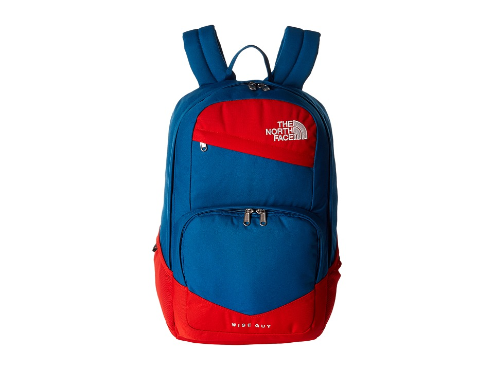 The North Face - Wise Guy Backpack (Banff Blue/Fiery Red) Backpack Bags