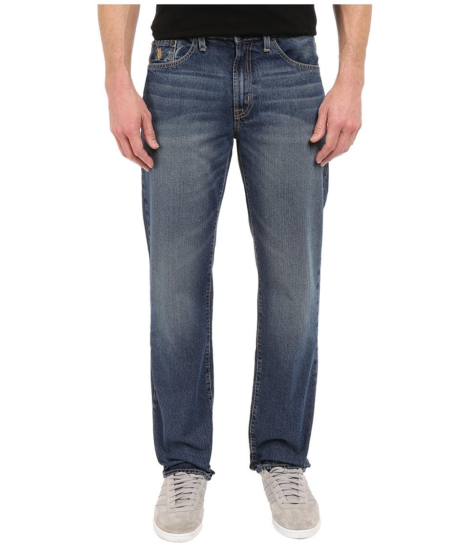U.S. POLO ASSN. - Authentic Five-Pocket Straight Leg Denim Jeans in Blue (Blue) Men's Jeans