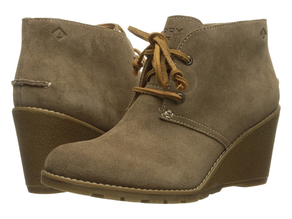 Sperry - Stella Prow (Taupe) Women's Wedge Shoes
