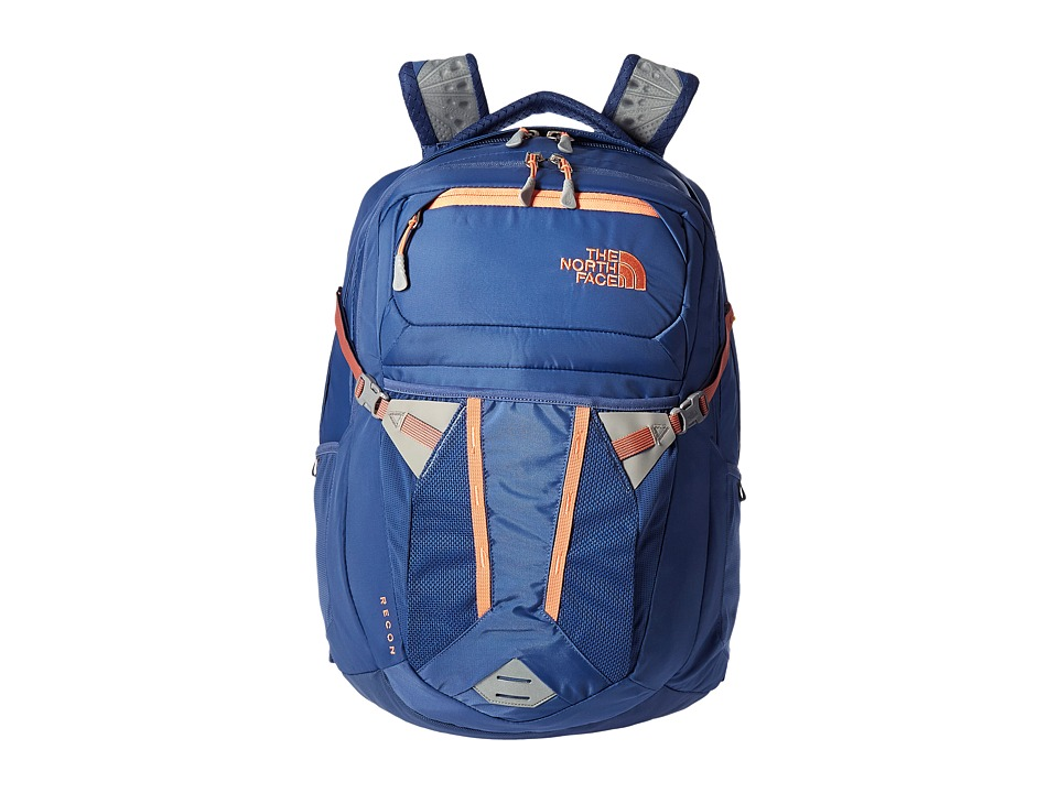 The North Face - Women's Recon (Coastal Fjord Blue/Feather Orange) Backpack Bags