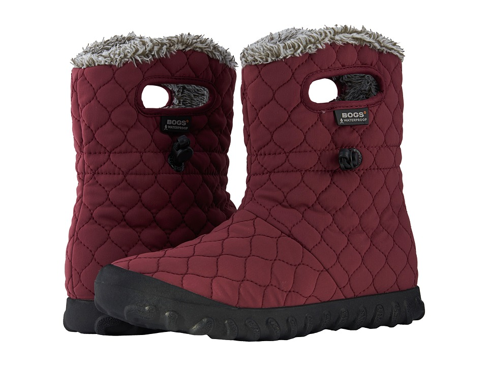 Bogs B-Moc Quilted Puff (Burgundy) Women