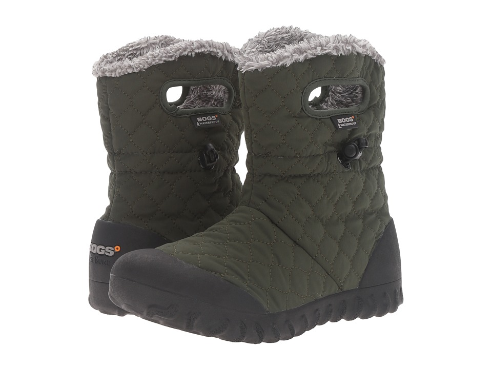 Bogs - B-Moc Quilted Puff (Dark Green) Women's Waterproof Boots