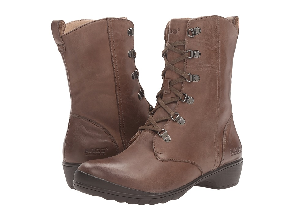 Bogs Carrie Lace Mid Boot Taupe Multi Womens Laceup Boots