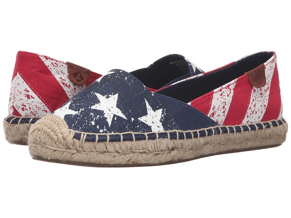 Sperry - Cape Stars and Stripes (Red/White/Navy) Women's Slip on Shoes