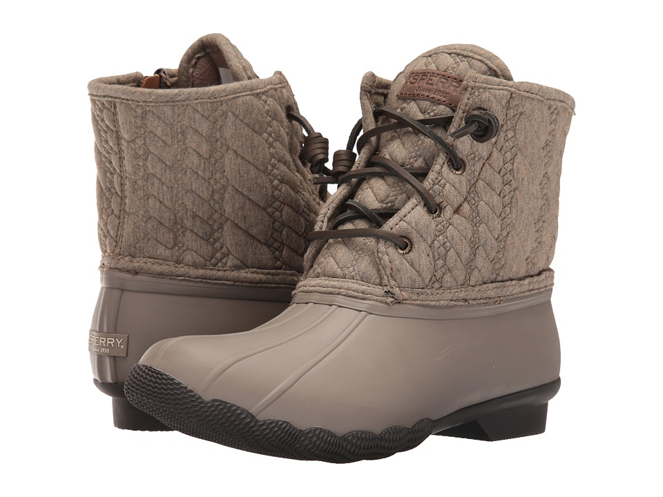 Sperry - Saltwater Rope Emboss Neoprene (Taupe) Women's Lace-up Boots