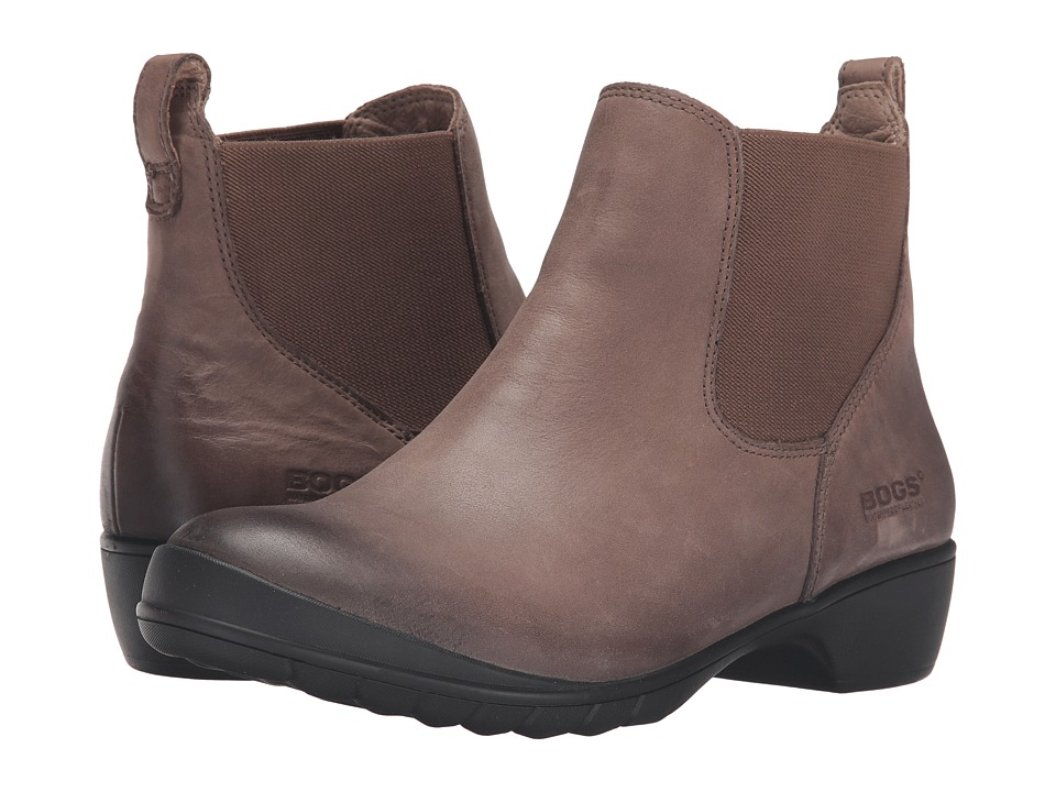 Bogs - Carrie Slip-On Boot (Taupe) Women's Waterproof Boots