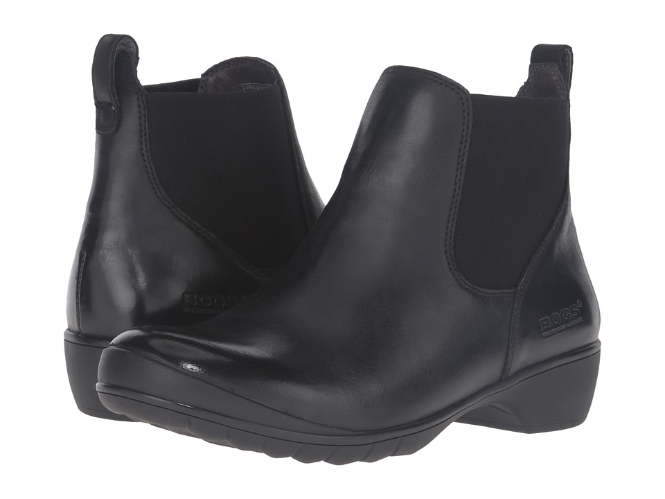 Bogs Carrie Slip-On Boot (Black) Women