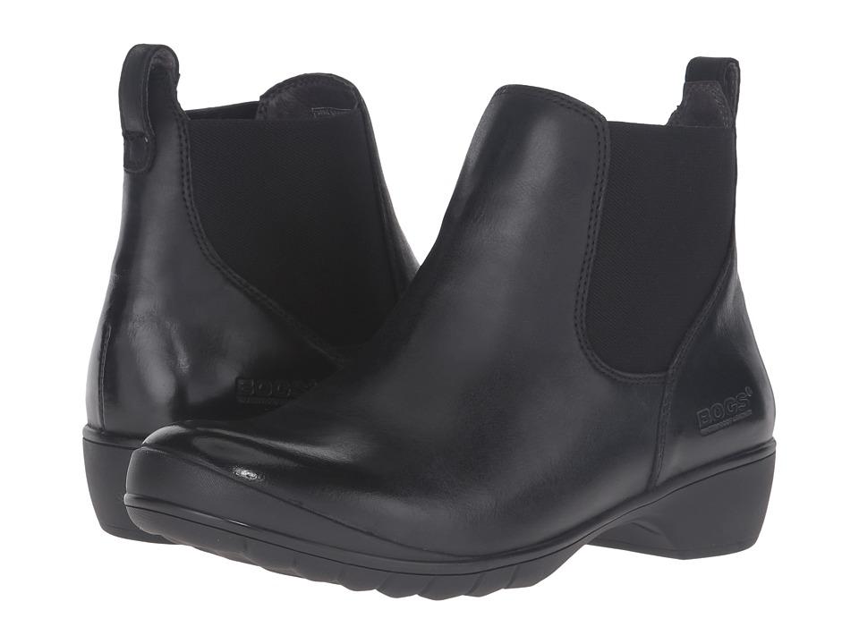 Bogs - Carrie Slip-On Boot (Black) Women's Waterproof Boots