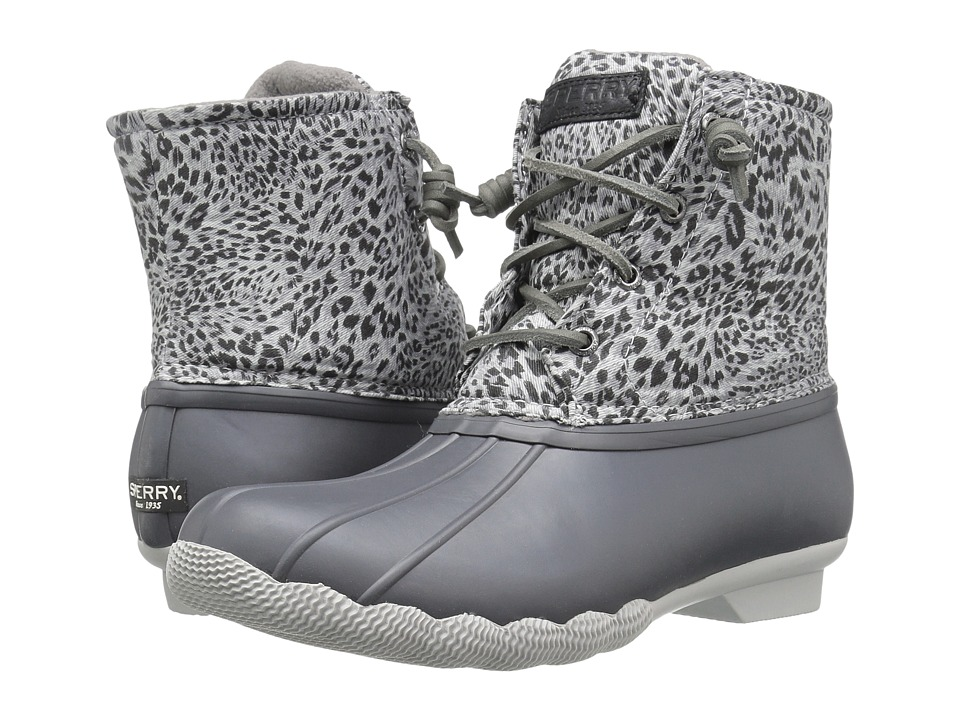Sperry Saltwater Prints (Dark Grey/Cheetah) Women