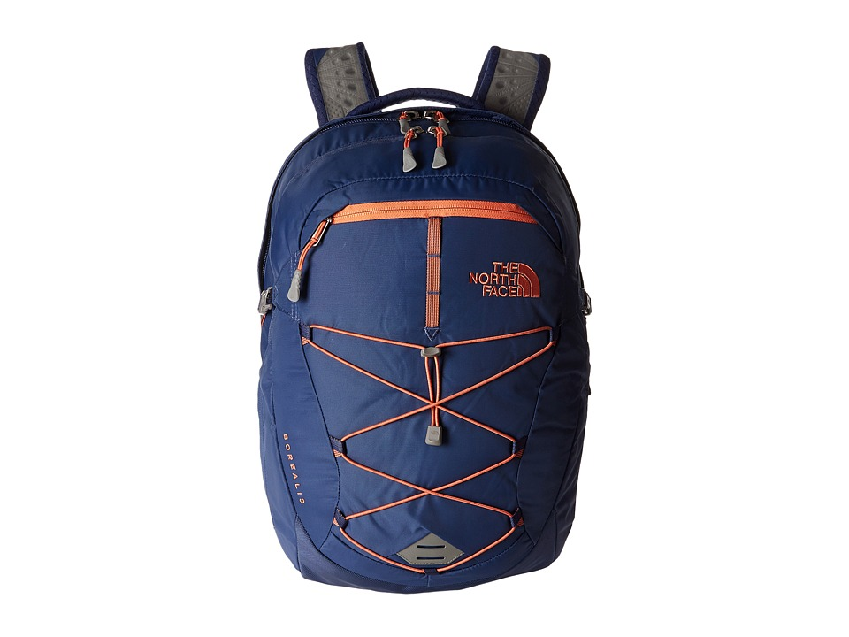 The North Face - Women's Borealis (Coastal Fjord Blue/Feather Orange) Backpack Bags