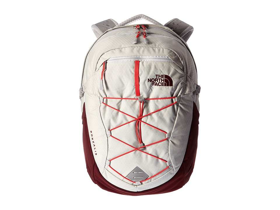 The North Face - Women's Borealis (Lunar Ice Grey/Melon Red) Backpack Bags