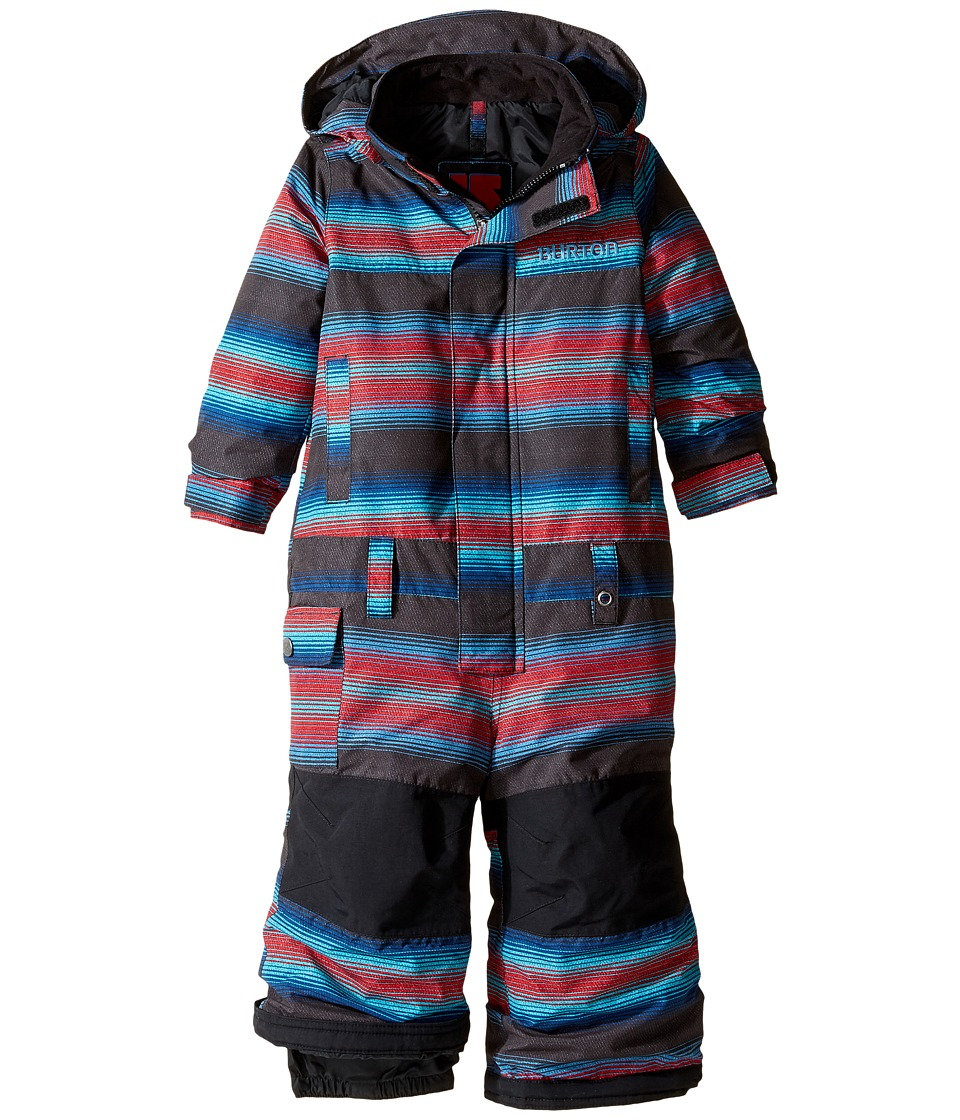 Burton Kids - Boys Minishred Striker One Piece (Toddler/Little Kids) (Seaside Stripe) Boy's Jumpsuit & Rompers One Piece
