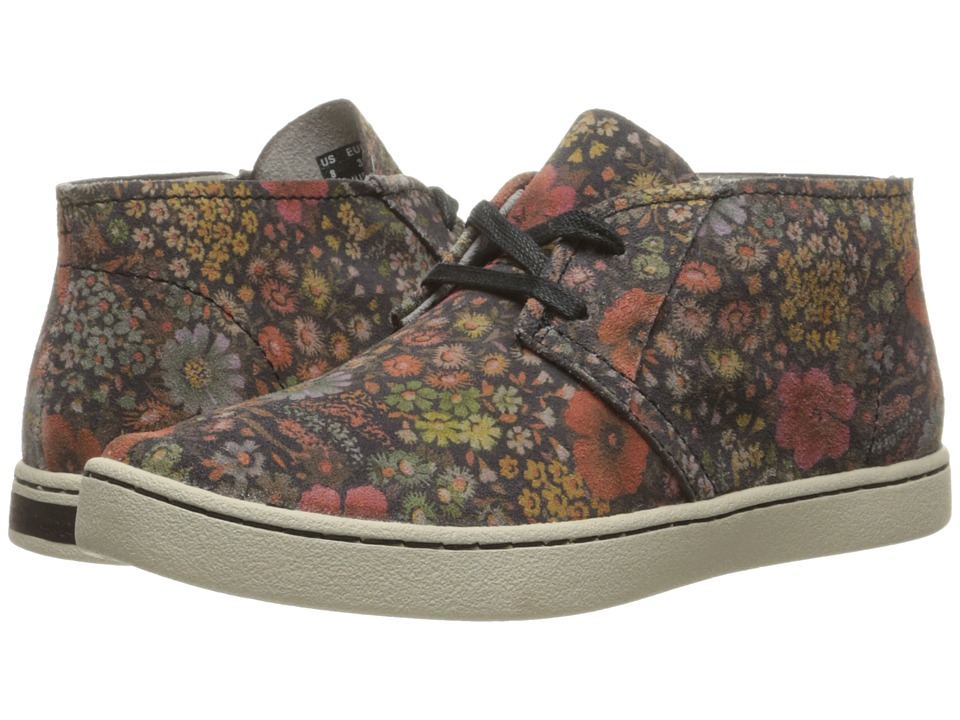 Hush Puppies - Cille Gwen (Black Floral Suede) Women's Slip on Shoes