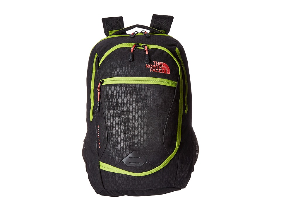 The North Face - Pivoter (TNF Black Emboss/Calypso Coral) Backpack Bags