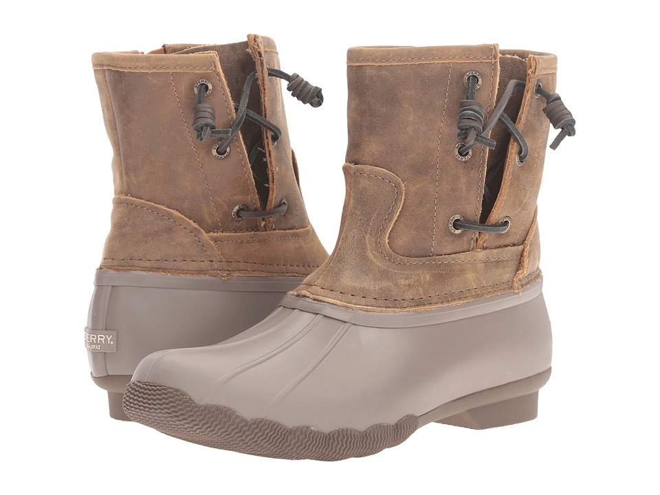 Sperry Top-Sider - Saltwater Pearl (Taupe/Brown) Women's Rain Boots