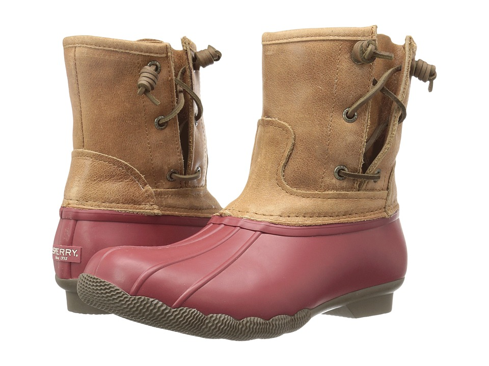Sperry - Saltwater Pearl (Red/Tan) Women's Rain Boots