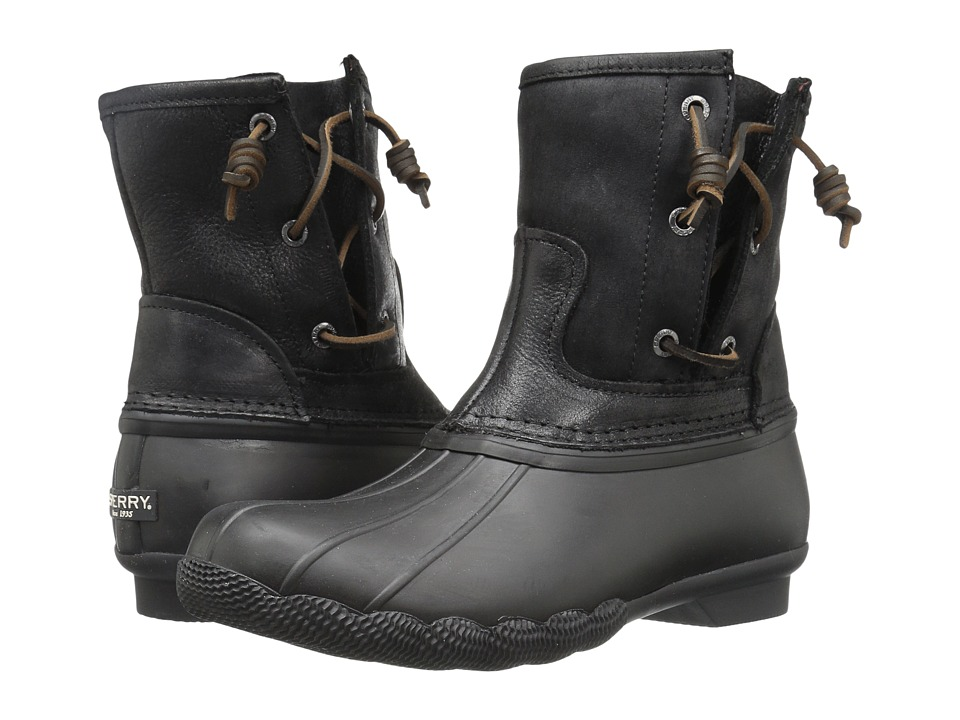 Sperry - Saltwater Pearl (Black) Women's Rain Boots