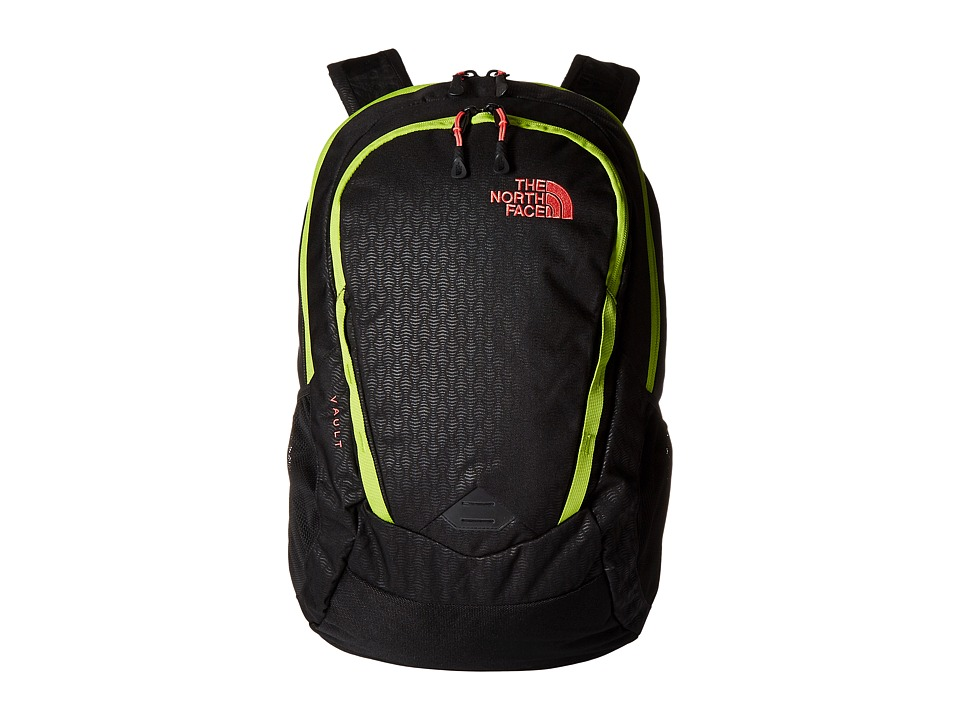 The North Face - Women's Vault (TNF Black Emboss/Calypso Coral) Backpack Bags